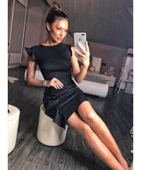 866ed80a867 Černé pouzdrové šaty s krátkým rukávem - Glami.cz