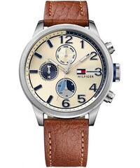 Tommy Hilfiger 1791461 Leather Watch In Brown 40mm - Brown - Glami.cz 67284f96936
