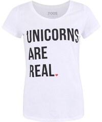 Biele dámske tričko ZOOT Originál Unicorns Are Real 3ec913819c