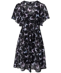 Rick Cardona Šifónové šaty s potlačou motýľa b360b9d8fb0