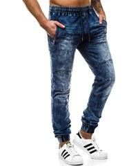 a620c0711b1 OZONEE JS 88002 Pánské Kalhoty Jogger Modré