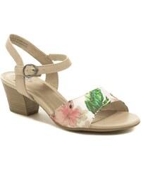 a570826f27b Jana 8-28365-22 béžové květované dámské sandály šíře H