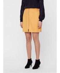 e2fa47cad8da Vero Moda hořčicová sukně v semišové úpravě se zipem Need L