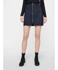 bdc34d601c8d Vero Moda tmavě modrá sukně v semišové úpravě se zipem Need L