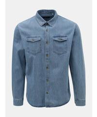 Shine Original modrá džínová košile s náprsními kapsami M bc12d4a7c4