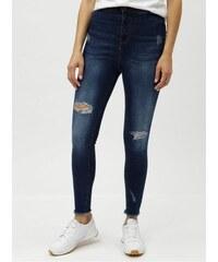 Noisy May modré skinny džíny s vysokým pasem a potrhaným efektem M 2cd0c17c75