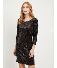 VILA černé šaty s flitry Glitz M adc8459717