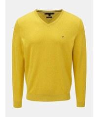 7405fea2add3 Tommy Hilfiger žlutý lehký svetr s příměsí hedvábí XXL
