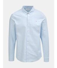 Farah světle modrá slim fit košile s dlouhým rukávem Brewer XL 354d3082dc