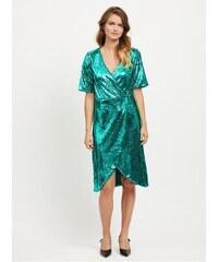 VILA zelené šaty s flitry Lilja L 3419be53cf
