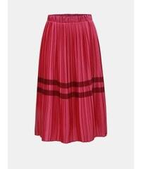 5ead57a3ad5 Vero Moda tmavě růžová plisovaná sukně s pruhy Niti S