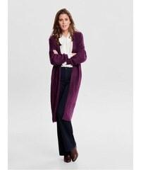 Jacqueline de Yong fialový dlouhý kardigan Cora L 8d7573c4c6