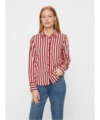 Vero Moda bílo-červená pruhovaná košile Nicky M 437558e819