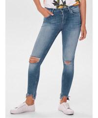 ONLY modré skinny džíny s potrhaným efektem Blush S 7d55351d35