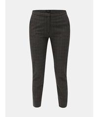 b5d3c236a4c Selected Femme tmavě šedé kostkované zkrácené kalhoty Musu XS