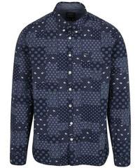 Lindbergh tmavě modrá vzorovaná košile s náprsní kapsou L d64d3f3234