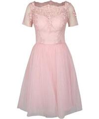 Chi Chi London růžové šaty Krizia XS 0ddc935f5c