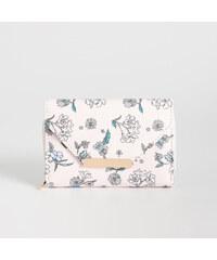 Sinsay - Kvetovaná peňaženka - Krémová 93f2e892350