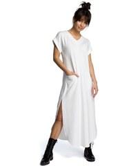 Be Wear Dlhé šaty B065 smotanovobiele 88bbd796fac
