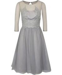 Chi Chi London šedé šaty s 3 4 rukávem Andrada XS ab8af20db6