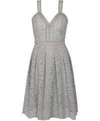 Chi Chi London šedé krajkové šaty Leonine L ae08821246