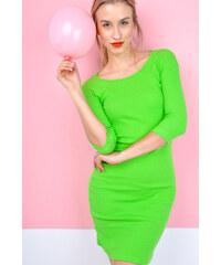 6714b404cc Rouzit Krátke neónovo zelené šaty s trojštvrťovým rukávom