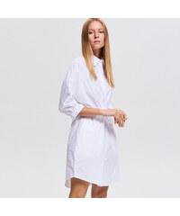 925cbbd6059 Reserved - Košilové šaty se stahováním v pase - Bílá
