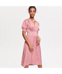 bff64c3ceb6a Reserved - Šaty s krátkymi rukávmi - Ružová