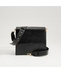 Mohito - Crossbody kabelka s reliéfnym vzorom - Čierna 928ba4c0dcf
