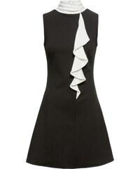 BODYFLIRT boutique Bonprix - robe d été Robe à volant noir sans manches  pour femme 2622528d9fe9