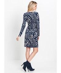 0bde5e2ca11d Úpletové šaty s kostkovaným motivem Greenpoint SUK542B18CHE01 - Glami.cz