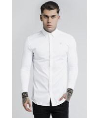 8c3527ab9e9a SIK SILK Pánska biela košeľa s dlhým rukávom SikSilk L S Cartel