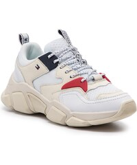 Sportcipő TOMMY HILFIGER - Wmn Chunky Mixed Textile Trainer FW0FW04065  White 100 dad9ff7b3c