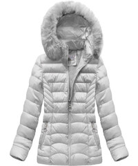 S WEST Dámska sivá zimná bunda B1036-30 48c61a8dff6