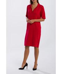 Červené Šaty s krátkym rukávom - Glami.sk 50a2003e34