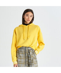 Sinsay - Mikina s kapucí - Žlutá c82e2b6ee51
