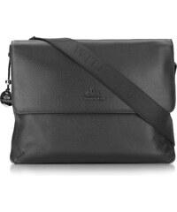 Kožené kabelky pánske značkové crossbody na laptop čierne Wittchen  620-3-043-11 ba37c200861