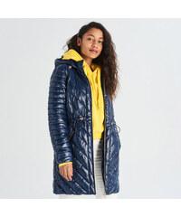 Sinsay - Prešívaný kabát - Tmavomodrá 32002ad7252