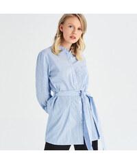 5fdc07420c69 Sinsay - Dlhá košeľa s viazaním - Modrá