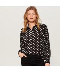 Mohito - Puntíkovaná košile - Černý 2fe46f3f1d