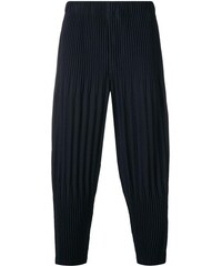 Homme Plissé Issey Miyake micro pleat drop crotch trousers - Blue d50e55b613