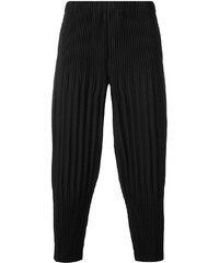 Homme Plissé Issey Miyake pleated drropped crotch trousers - Black 6c43a713b0