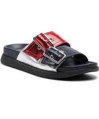 TOMMY HILFIGER Crackle Metallic Footbed Sandal FW0FW03805 c4da944cf0