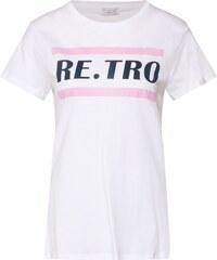 4b48486e6684 Re.draft Tričko  Retro  pink   bílá