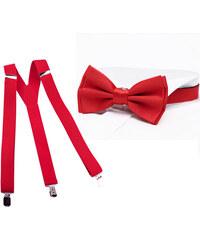Súprava traky a motýlik červená Assante 510 009435f4f5