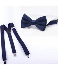 Súprava traky a motýlik modrá Assante 513 89abc77184