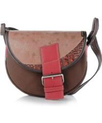 fe8b46767f Slón Torbalski dámska kožená kabelka na rameno hnedá Freshman 6396