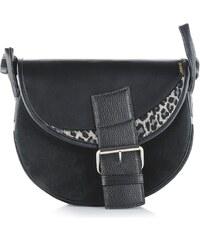 Slón Torbalski dámska kožená kabelka na rameno čierna Freshman 639- 1ad715c4331