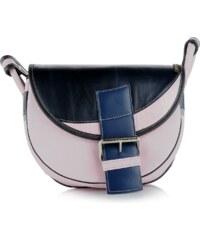 c8d4ade701 Slón Torbalski dámska kožená kabelka na rameno ružová s modrou Freshman  6396-1