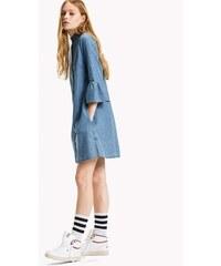 b2a38a17c470 Tommy Hilfiger dámske modré džínsové šaty Rufflle